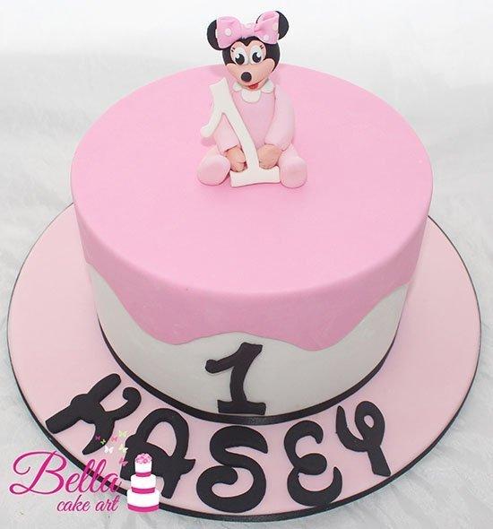 Marvelous Baby Minnie 1St Birthday Cake Birthday Cards Printable Riciscafe Filternl