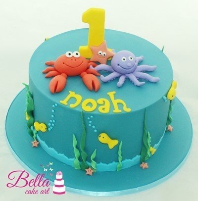 Swell Under The Sea Cake Funny Birthday Cards Online Eattedamsfinfo