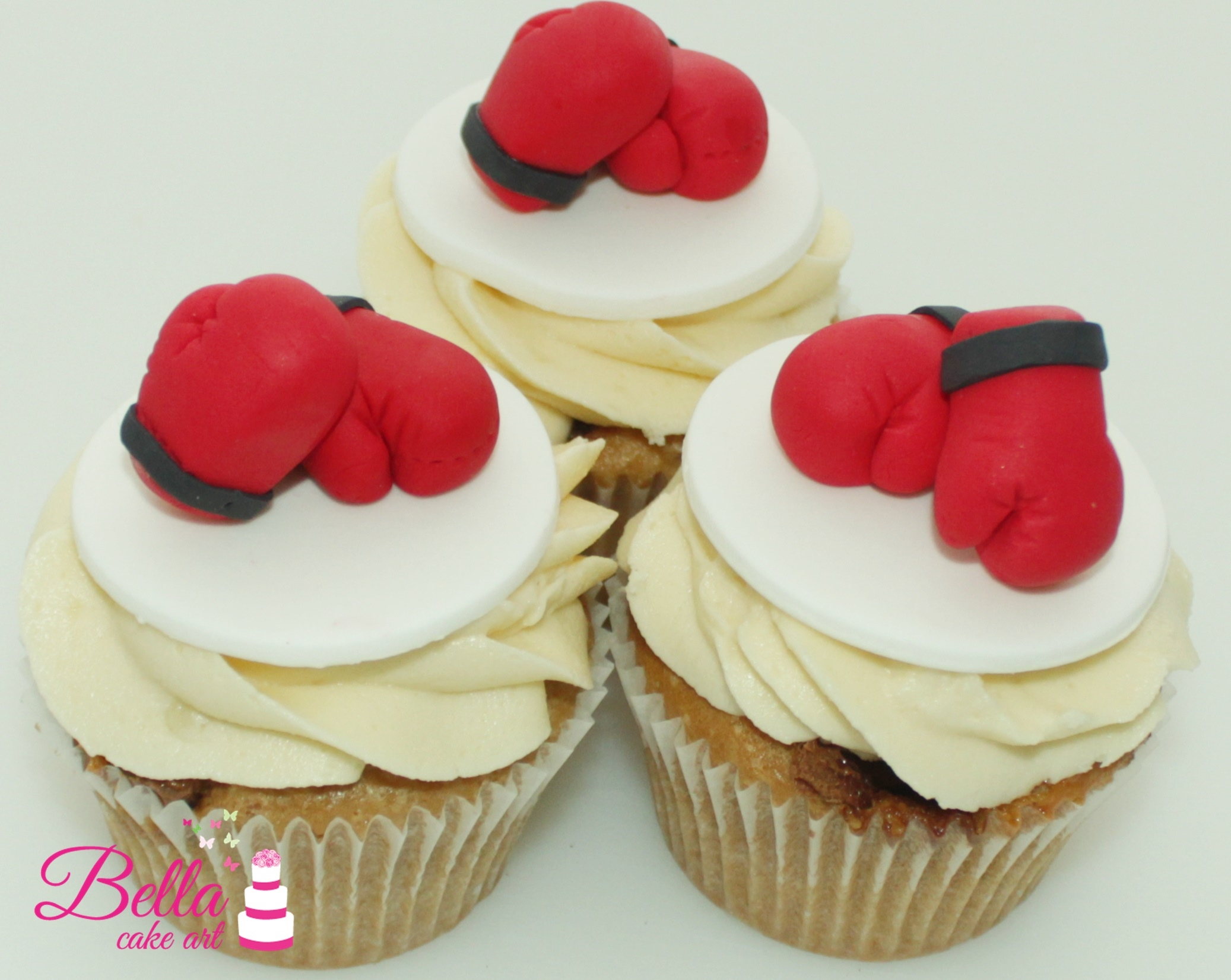 how to make boxing glove cupcake toppers